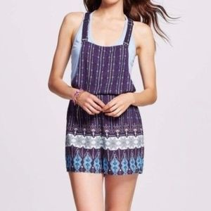 Xhilaration Boho Romper Overall Shorts XL NEW